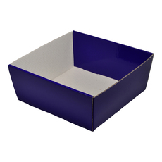 80mm High Medium Square Catering Tray - Gloss Purple with optional clear lid (Lid purchased separately)