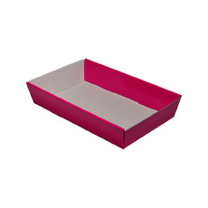 50mm High Small Rectangle Catering Tray - Matt Hot Pink with optional clear lid (Lid purchased separately)