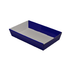 50mm High Small Rectangle Catering Tray - Matt Navy Blue with optional clear lid (Lid purchased separately)