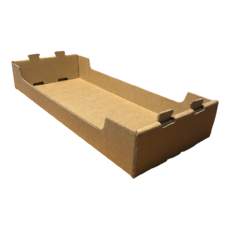 NEW Heavy Duty Medium Stackable Catering and Storage Tray Kraft Brown (One Piece Self Locking Cardboard Storage Box)