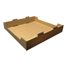 NEW Heavy Duty Large Stackable Catering and Storage Tray Kraft Brown (One Piece Self Locking Cardboard Storage Box)