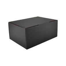 A5 Postal Box 125mm High - Kraft Black (Double Sided Black)