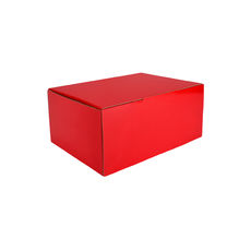 A5 Postal Box 125mm High - Premium Gloss Red (White Inside)