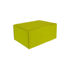 A5 Postal Box 125mm High - Premium Gloss Yellow (White Inside)
