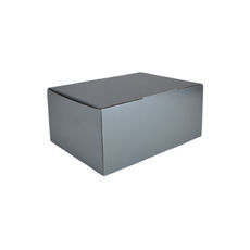 A5 Postal Box 150mm High - Premium Gloss Silver (White Inside)