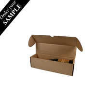 SAMPLE - 320mm One Piece Champagne Gift Box 24646 - Kraft Brown
