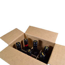 Divider Insert for 6 Wine Bottle Shipping RSC Box 311 and 331mm High - Box Sold Separately (see 700-24732 or 700-24733 for Box)