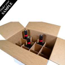 OUT OF STOCK SAMPLE - Divider Insert for 12 Wine Bottle Shipping RSC Box 311 and 331mm High - Box Sold Separately (see 700-24734 or 700-24735 for Box)