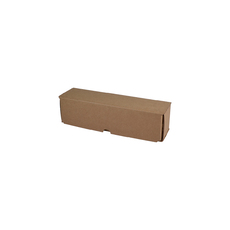 1 Beer Bottle Shipping Box - Lay Down Kraft Brown (B Flute)