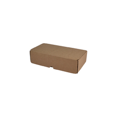2 Beer Bottle Shipping Box - Lay Down Bottle with removable insert included Kraft Brown