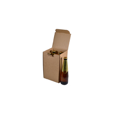 4 Beer Bottle Shipping Box - Stand Up Bottle with OPTIONAL insert (insert sold separately)