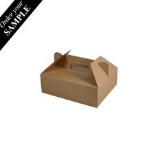 SAMPLE- Small Food Delivery Box 24684 - Kraft Brown