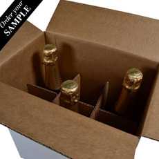 OUT OF STOCK SAMPLE - Chandon Divider Insert for 6 Bottle Shipping RSC Box - Box Sold Separately (see 700-24846 for Box)
