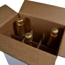 Chandon Divider Insert for 6 Bottle Shipping RSC Box - Box Sold Separately (see 700-24846 for Box)