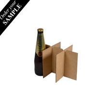 SAMPLE 6 Beer Bottle Divider Insert for the 6 Beer Bottle Box (700-24683) - Box Sold Separately Kraft Brown