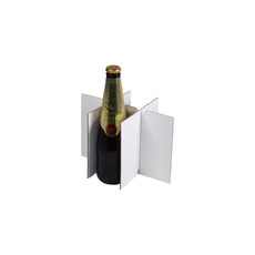 6 Beer Bottle Divider  Insert for the 6 Beer Bottle Box (700-24683) - Box Sold Separately Kraft White