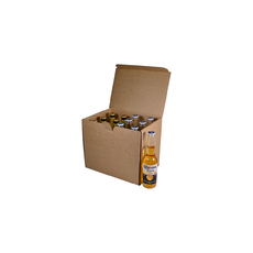 12 Beer Bottle Shipping Box - Stand Up Bottle with OPTIONAL insert (insert sold separately - see product 700-24789)