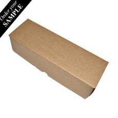 SAMPLE - Heavy Duty Single Wine Box - Kraft Brown One Piece (Box Only with optional insert sold separately)