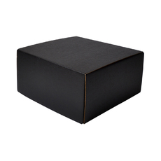 One Piece Postage & Gift Box 26771 - Kraft Black (Double Sided Black)