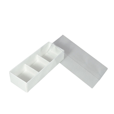 3 Pack Chocolate Box with Clear Lid & Insert - Smooth White