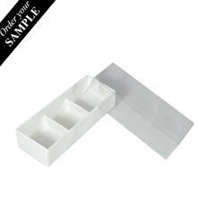 SAMPLE - 3 Pack Chocolate Box with Clear Lid & Insert - Smooth White