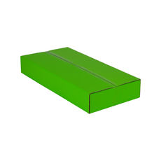 One Piece Postage & Gift Box 4764 - Premium Gloss Lime Green (White Inside)