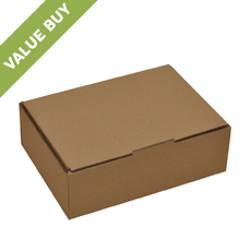 A5 Postage Box Brown (Brown Inside)