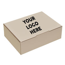 Flexo Printed - A4 Postage Box White - 1 Colour Top Panel (Now made from 100% Recycled Cardboard) (Brown Inside)