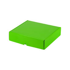 One Piece Postage & Gift Box 5320 - Premium Gloss Lime Green (White Inside)
