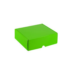 One Piece Postage & Gift Box 5321 - Premium Gloss Lime Green (White Inside)