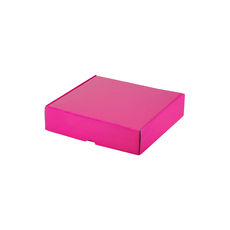 One Piece Postage & Gift Box 5322 - Premium Gloss Hot Pink (White Inside)