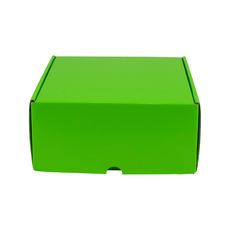 One Piece Postage & Gift Box 5325 - Premium Gloss Lime Green (White Inside)