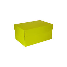 Corrugated Shoe Box 150 Base & Lid - Premium Gloss Yellow (White Inside)