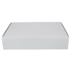 One Piece Postage Box 6417 - Kraft White (White Inside)