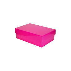 Two Piece Corrugated Shoe Box 100 Base & Lid - Premium Matt Hot Pink (White Inside) Temp out of Stock