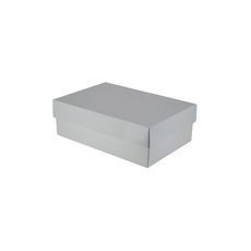 Two Piece Corrugated Shoe Box 100 Base & Lid - Premium Gloss White (White Inside)