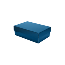 Two Piece Corrugated Shoe Box 100 Base & Lid - Premium Matt Navy Blue (White Inside) Temp out of Stock