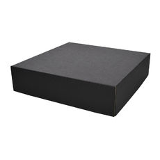 Two Piece Postage & Gift Box 6592 Base & Lid - Kraft Black (Double Sided Black)