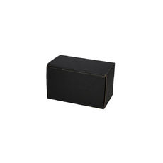 One Piece Postage & Gift Box 6797 -Kraft Black (Double Sided Black)