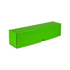One Piece Wine Gift Box 7201 - Premium Gloss Lime Green (White Inside)