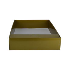 Snack Box with Money Holder - Premium Gloss Gold (White Inside)