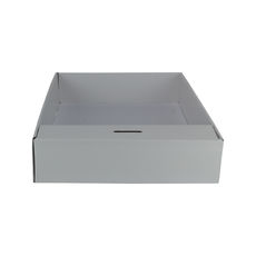 Snack Box with Money Holder - Premium Gloss White (White Inside)