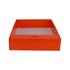 Snack Box with Money Holder - Premium Gloss Orange (White Inside)