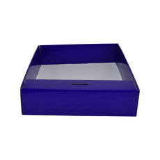 Snack Box with Money Holder - Premium Gloss Purple (White Inside)