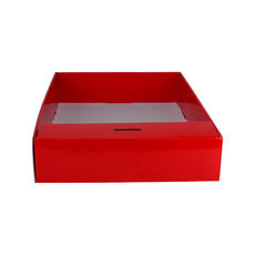 Snack Box with Money Holder - Premium Gloss Red (White Inside)