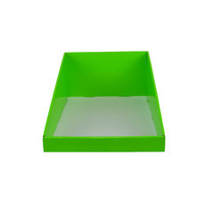 A5 Counter Display - Premium Gloss Lime Green (White Inside)