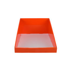 A5 Counter Display - Premium Gloss Orange (White Inside)