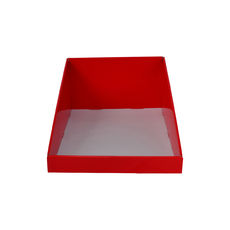 A5 Counter Display - Premium Gloss Red (White Inside)