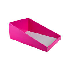 A4 Counter Display - Premium Gloss Hot Pink (White Inside)