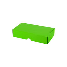One Piece Postage & Gift Box 7333 - Premium Gloss Lime Green (White Inside)